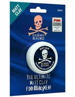 The Bluebeards Revenge Mens Matt Clay Hair Styling Hair Care Product 20ml travel