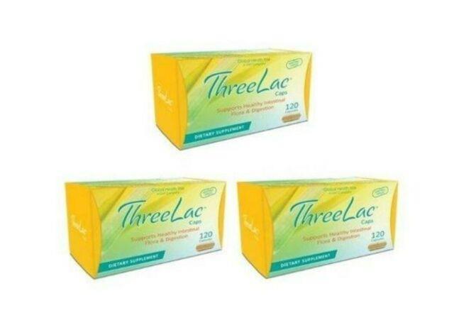 Threelac Caps Probiotic Capsules 120ct, 3 Boxes