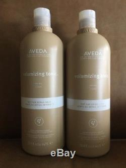 Two Aveda Volumizing Tonic, 33.8 Fl oz 1000 ml Two Full New And Unopened