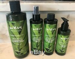 Wen Bamboo Green Tea Set Cleansing Conditioner, Styling Creme & Treatment Spray