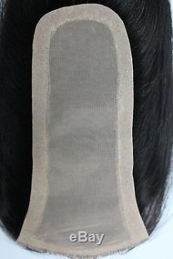 (Y-1B) UniWigs human hair silk skin top parting closure hair topper pieces